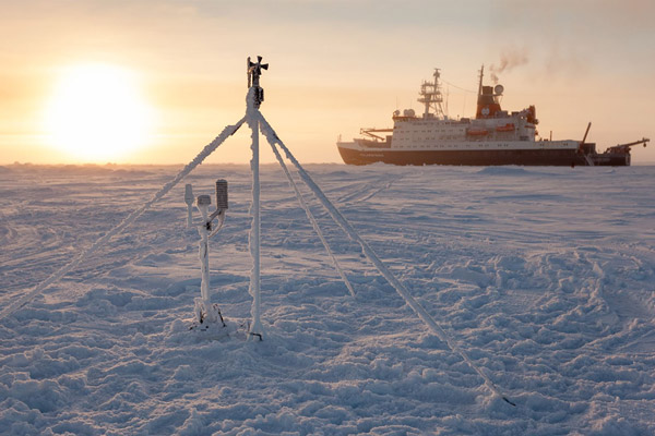 Ground-based measurements in the Arctic.