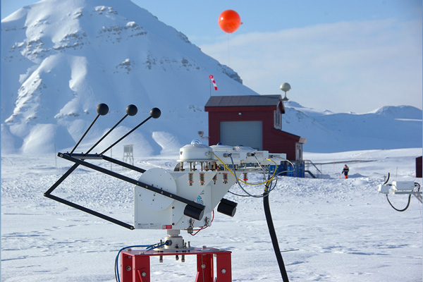 Ny-Ålesund radiation measurements at atmospheric observatory.