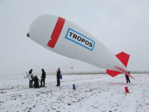 Launch of tethered balloon.