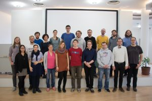"<span style=""font-family: 'Segoe Script', serif; font-weight: bold; color: #993300;"">(AC)³</span> PhD students at workshop in Cologne"