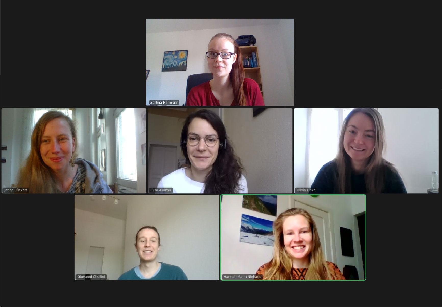 PhD representative council (Screenshot Zoom May 2021)